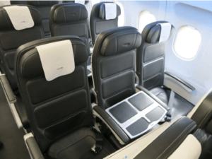 Blocked middle seat to prevent virus spread