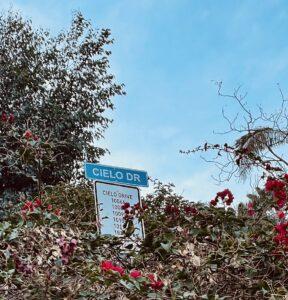 Cielo Drive street sign