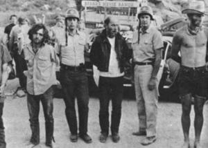Manson under arrest at Spahn Ranch