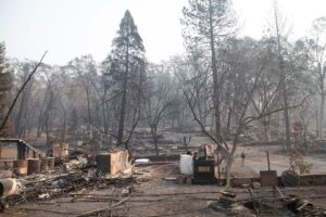 Fire damage in Paradise