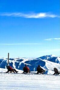 Sun Valley skiers chllin'