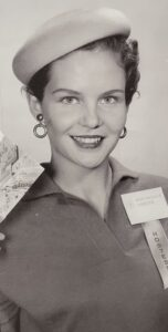 A mall hostess at Southdale Mall in 1954