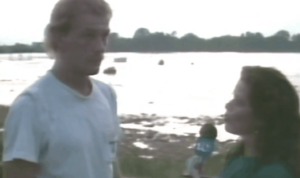 Jimmy Scott being interviewed on WGEM-TV