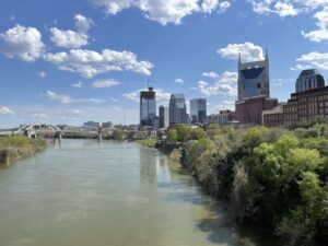 The Cumberland River in Nashville today
