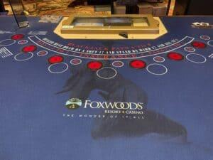 Foxwoods blackjack table