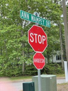 A stop sign on the Mashantucket Pequot