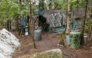 Christopher Knight's campsite