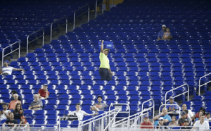 Empty stands at a Miami Marlin's game.
