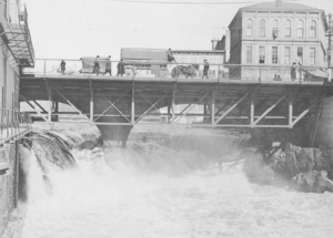 Pawtucket River Falls in the 19th century.