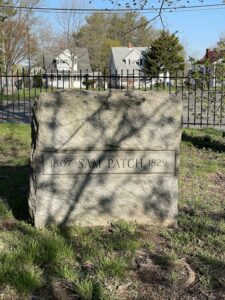 The grave of Sam Patch in Charlotte, NY