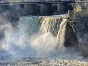 The Upper Falls of the Genesee River in downtown Rochester.
