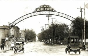 Flint Vehicle City Sign in 1913