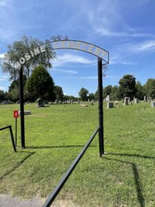 Rosine Cemetery where 18-year-old Katie Autry is buried