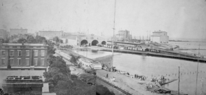 The Chicago lakefront in 1890.