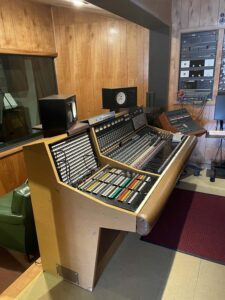 The control room at Muscle Shoals Sound Studio.