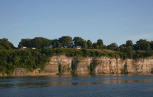 The bluffs on the Tennessee River near Muscle Shoals